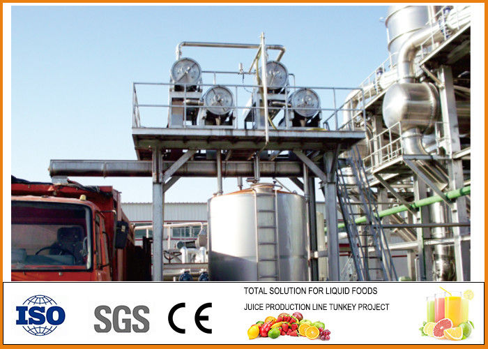 750T/day Tomato Paste Production Line Plant 15.01t/h Steam Consumption