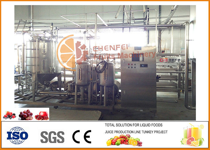 10T/H 1Year Warranty  Raspberry soft drink production line
